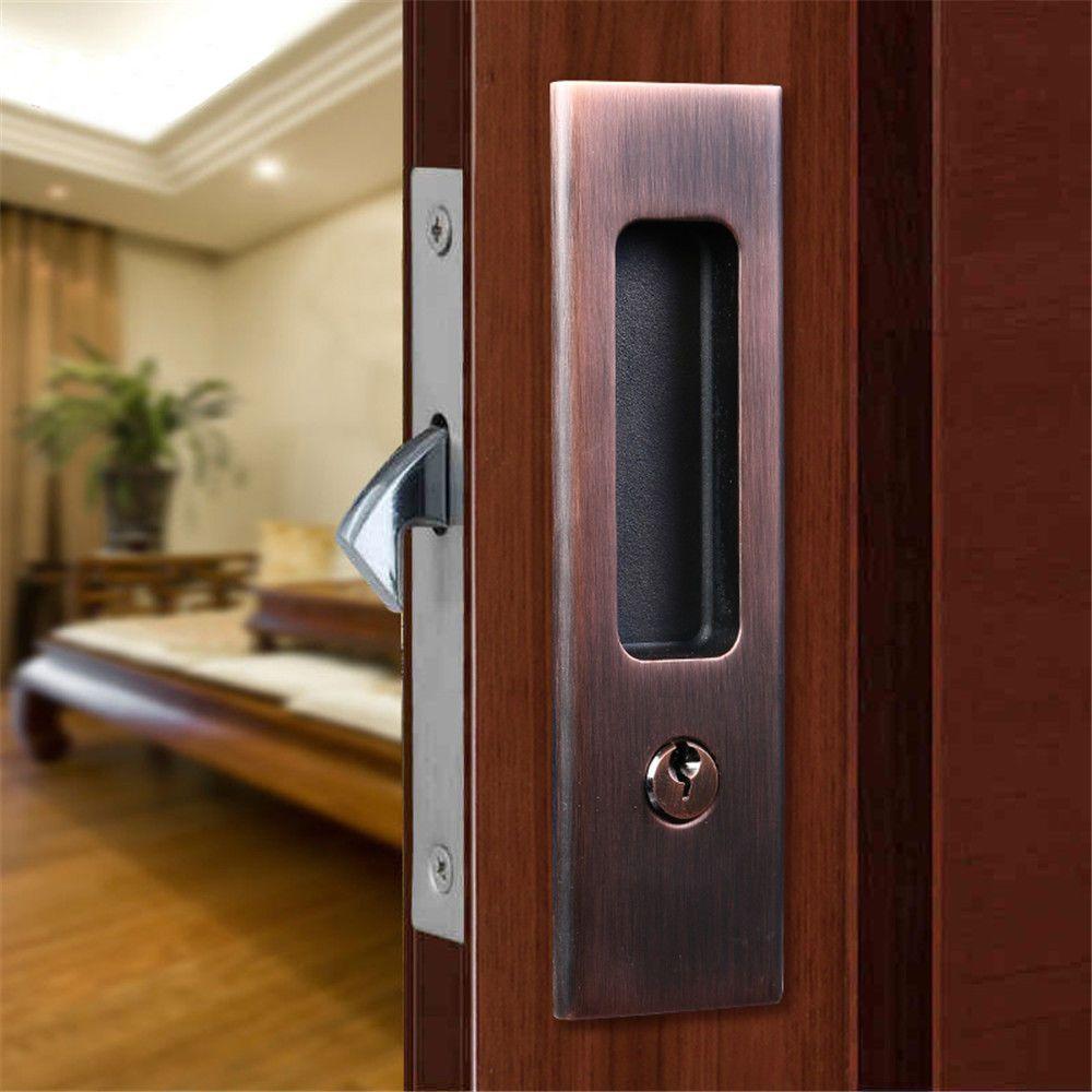 Invisible Door Lock Sliding Wood Barn Door Locks Door Furniture Hardware On Sale Ebay Sliding Wood Doors Wood Doors Interior Sliding Doors Interior