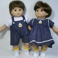 BLUE Denim Jeans Doll Clothes Made For Bitty Baby Boy Twin Debs