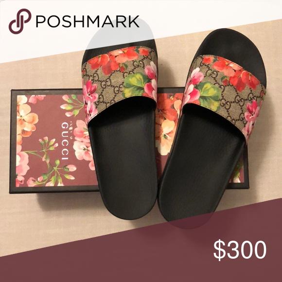 Gucci floral slides | Gucci floral