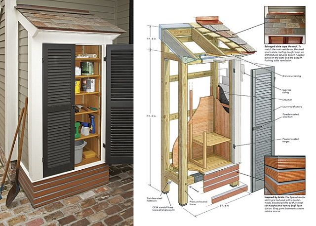 DIY Pallet Shed Project | IKEA Decoration. Garden Tool ...