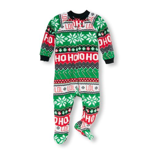 Unisex Baby And Toddler Long Sleeve  Ho Ho Ho  Fair Isle Print Blanket  Sleeper 48d7e3a66