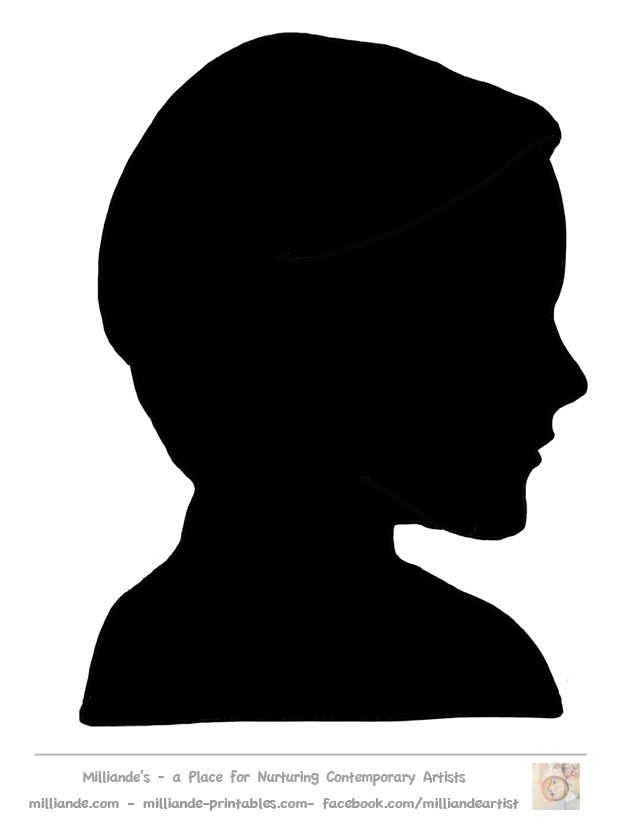 image about Printable Silhouette Templates referred to as Encounter Silhouette Templates Printable,Experience Stencils,Experience