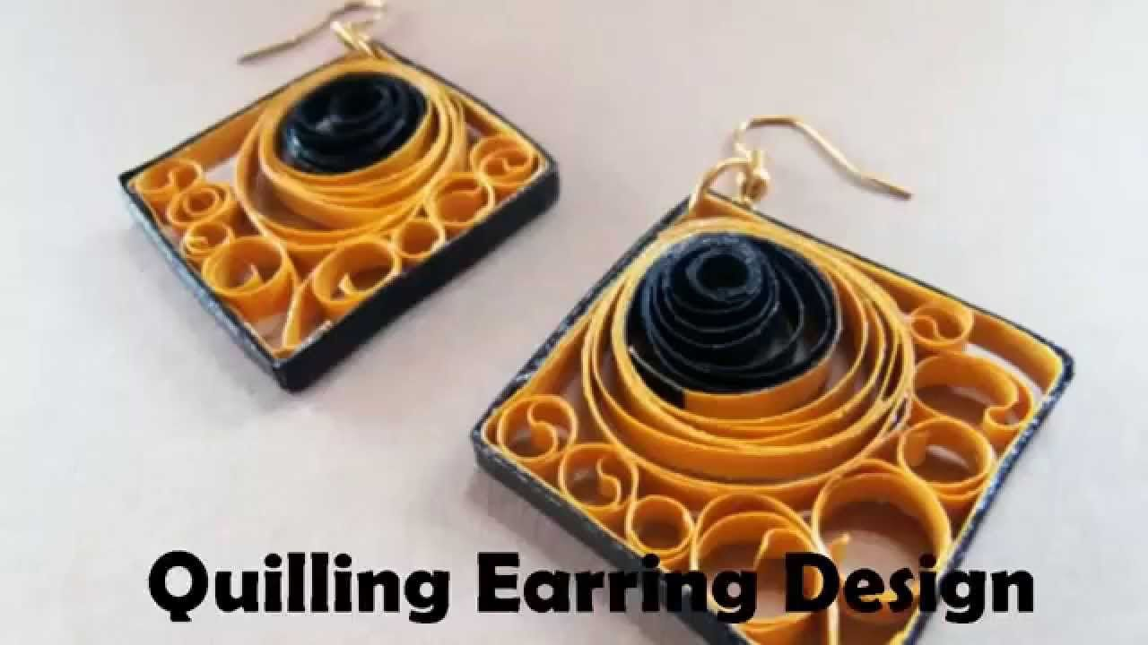 DIY Craft Ideas-How to make Beautiful Quilling Earring Yellow ...