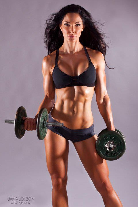 muscled, weights