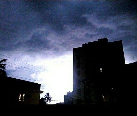 Raios na noite de hoje(24/02/16) em Caraguatatuba/SP