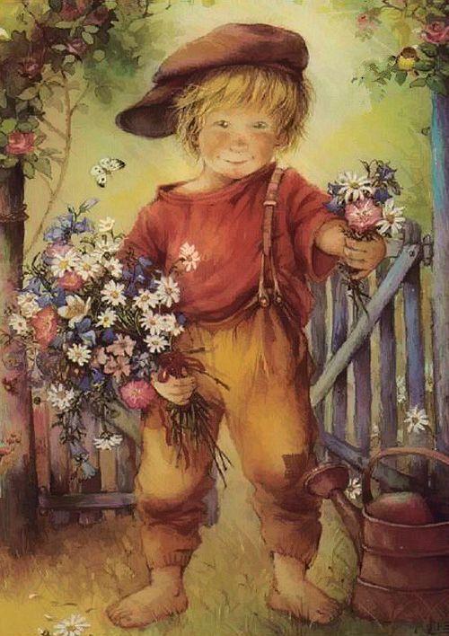 Плачущей, открытки с днем рождения мальчик с цветами