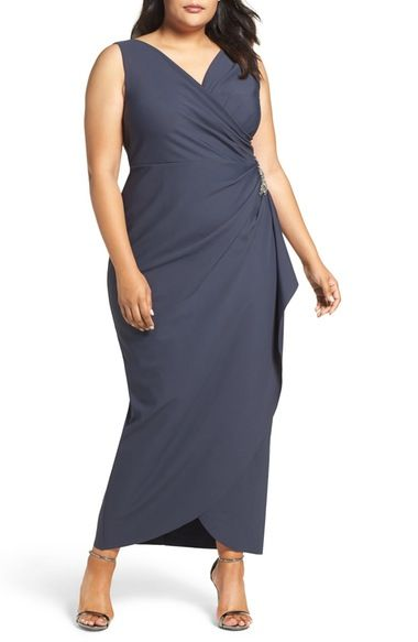 Alex Evenings Embellished Side Ruched Gown (Plus Size) available at #Nordstrom
