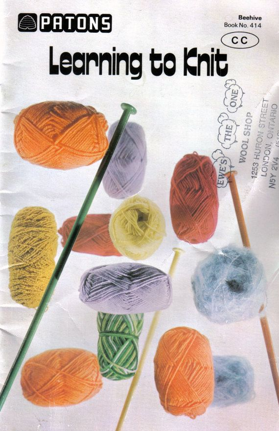 Paton\'s Beehive 414 Learning to Knit | Knitting & Crochet Patterns ...