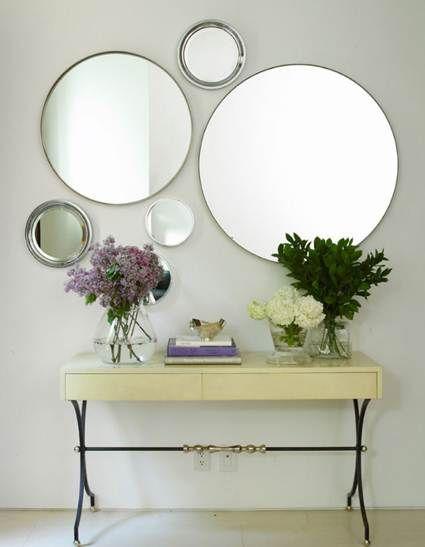 recibidor con espejos
