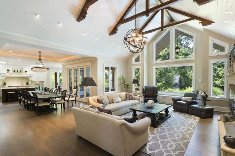 Love The High Ceilings Open Living Room Design Living Room Floor Plans Open Living Room #tall #ceilings #living #room