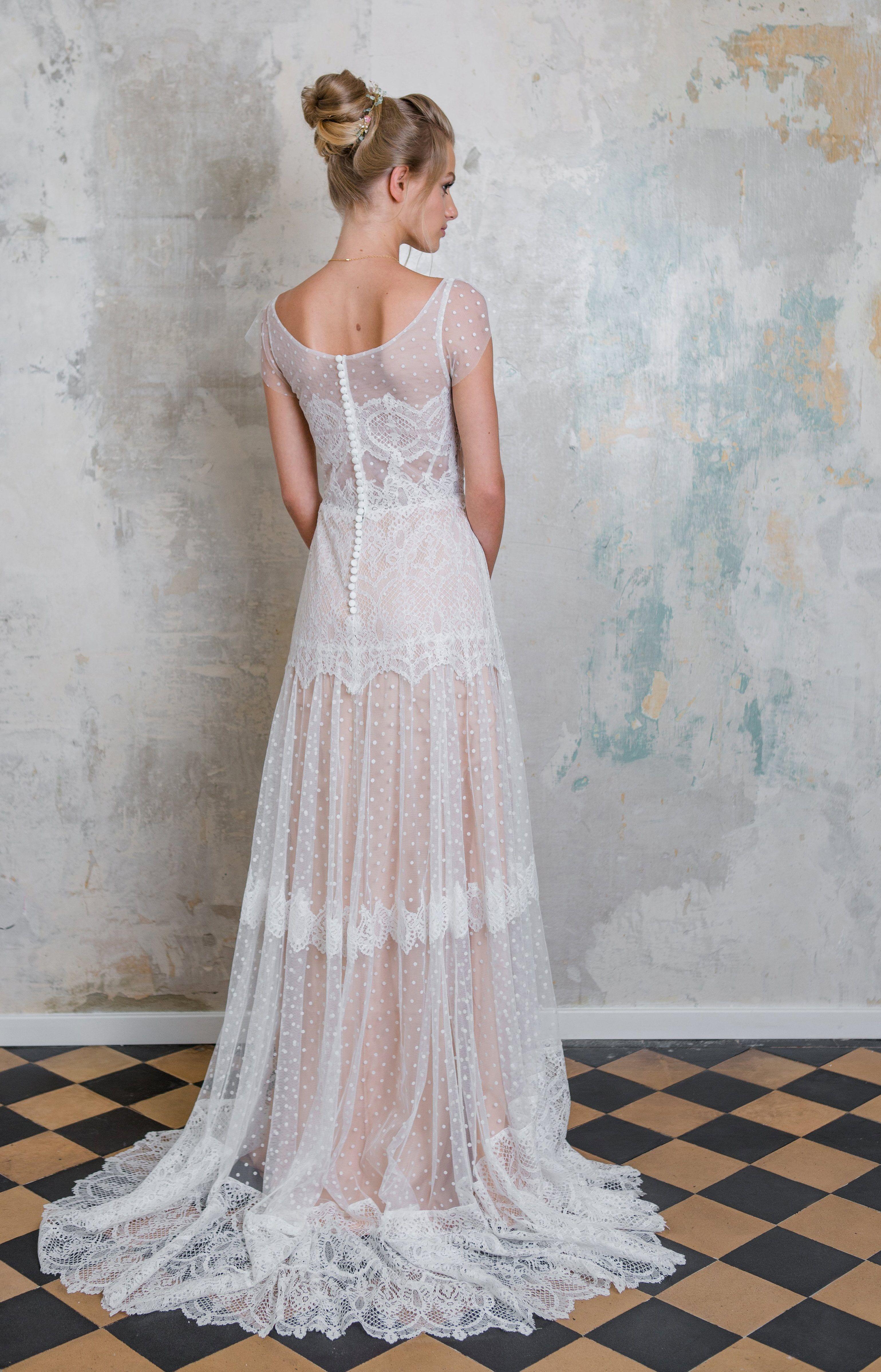 Das Brautkleid Drisana ist ein Traum aus Spitze im Vintage-Look- Das ...