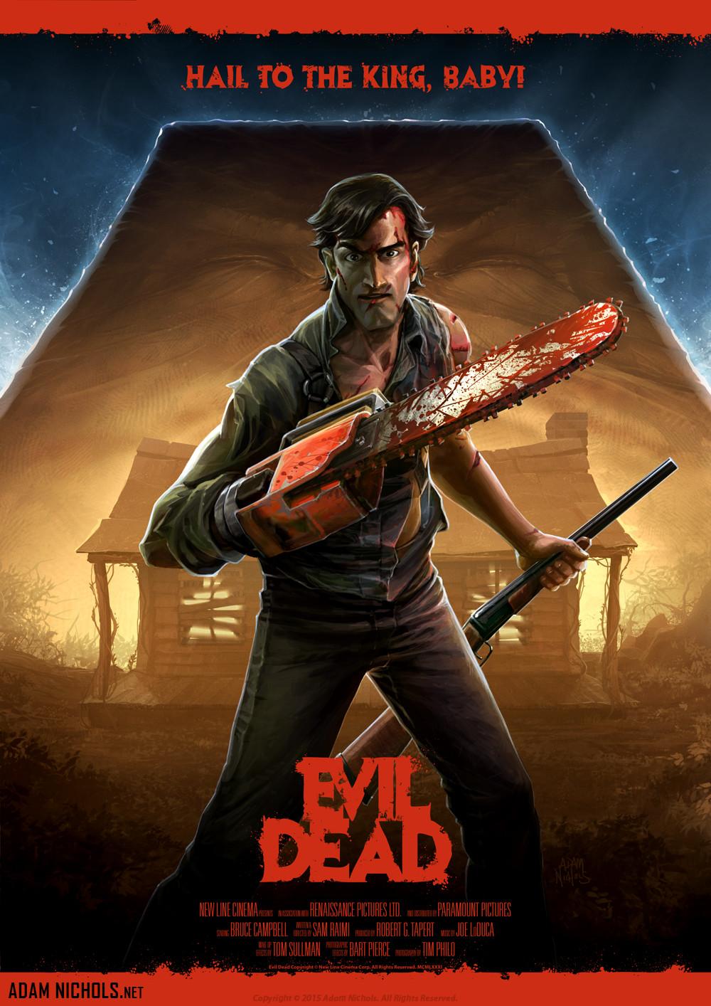 Artstation Evil Dead Adam Nichols Ash Evil Dead Evil Dead Series Horror Movie Art