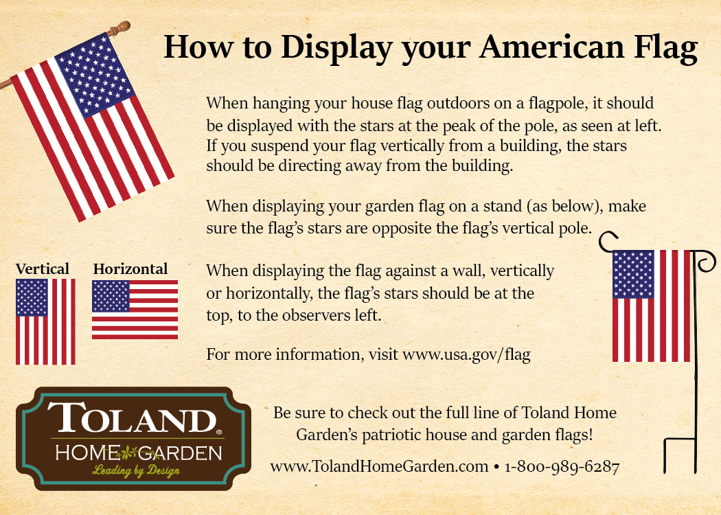 Here S Some Helpful Info To Help You Hang Your New American Flags Flag Garden Flags New American Flag