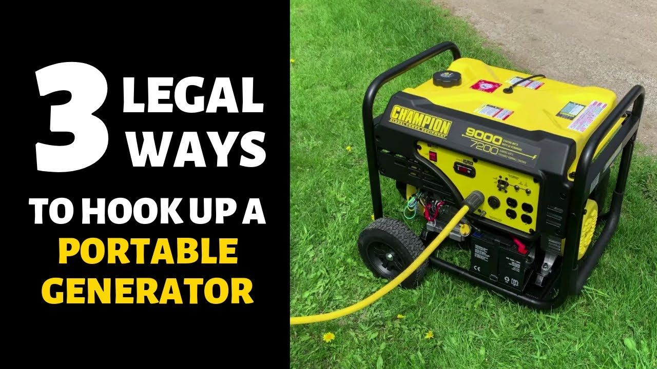 Choosing a backup generator plus 3 legal house connection