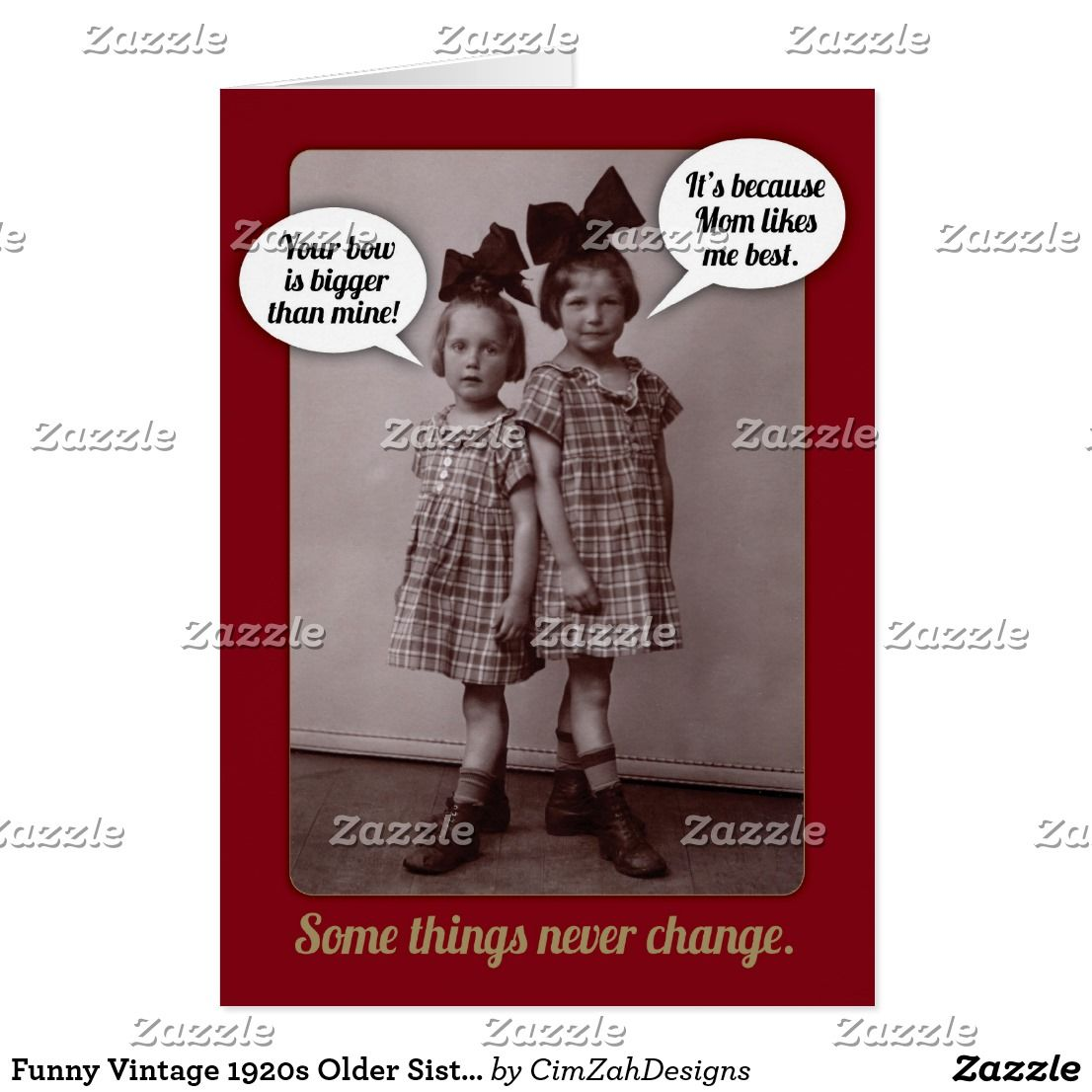 Funny vintage 1920s older sister birthday card sister birthday funny vintage 1920s older sister birthday card bookmarktalkfo Choice Image