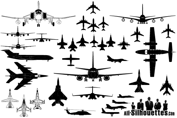 Vector Airplane Clipart Silhouettes Airplane Silhouette Airplane Tattoos Clip Art