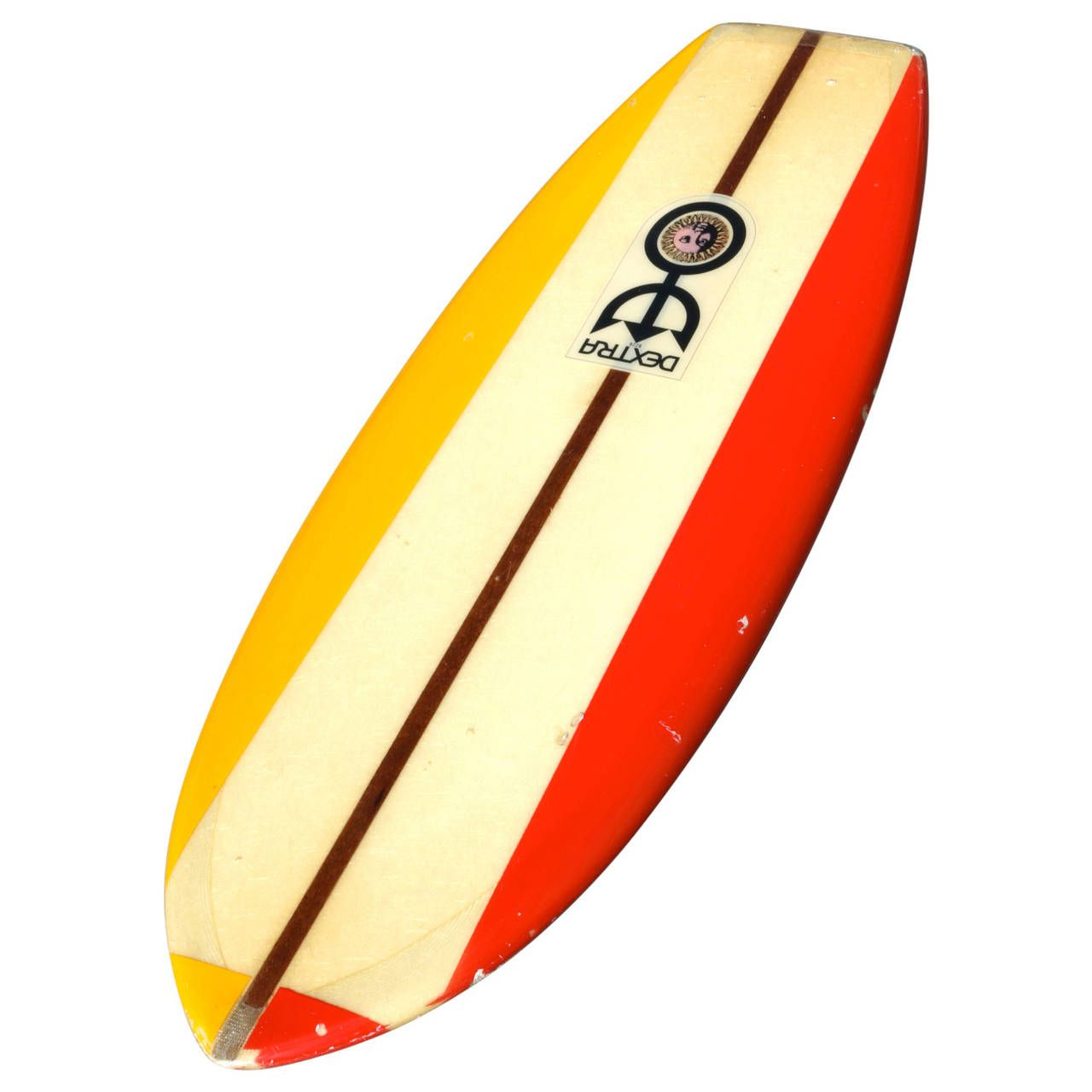 Clear Yellow Red Vintage Dextra Belly Board, California Surfboard ...