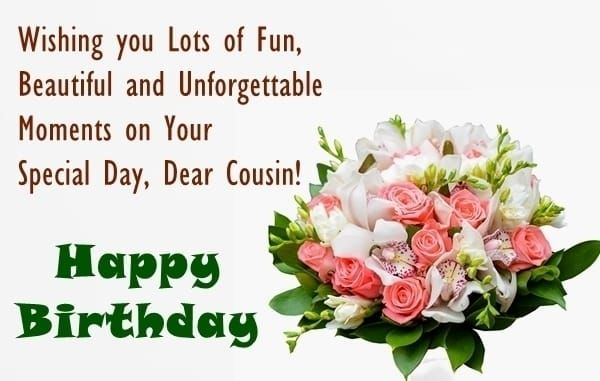 Cute Birthday Wishes For Cousin Happy Greeting Cards