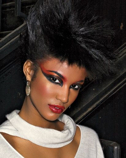 80s inspired makeup hair