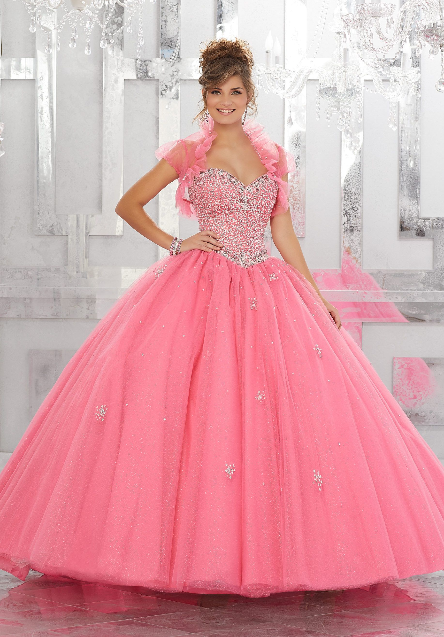 Strapless A-line Quinceanera Dress by Mori Lee Vizcaya 89143 | 15 ...