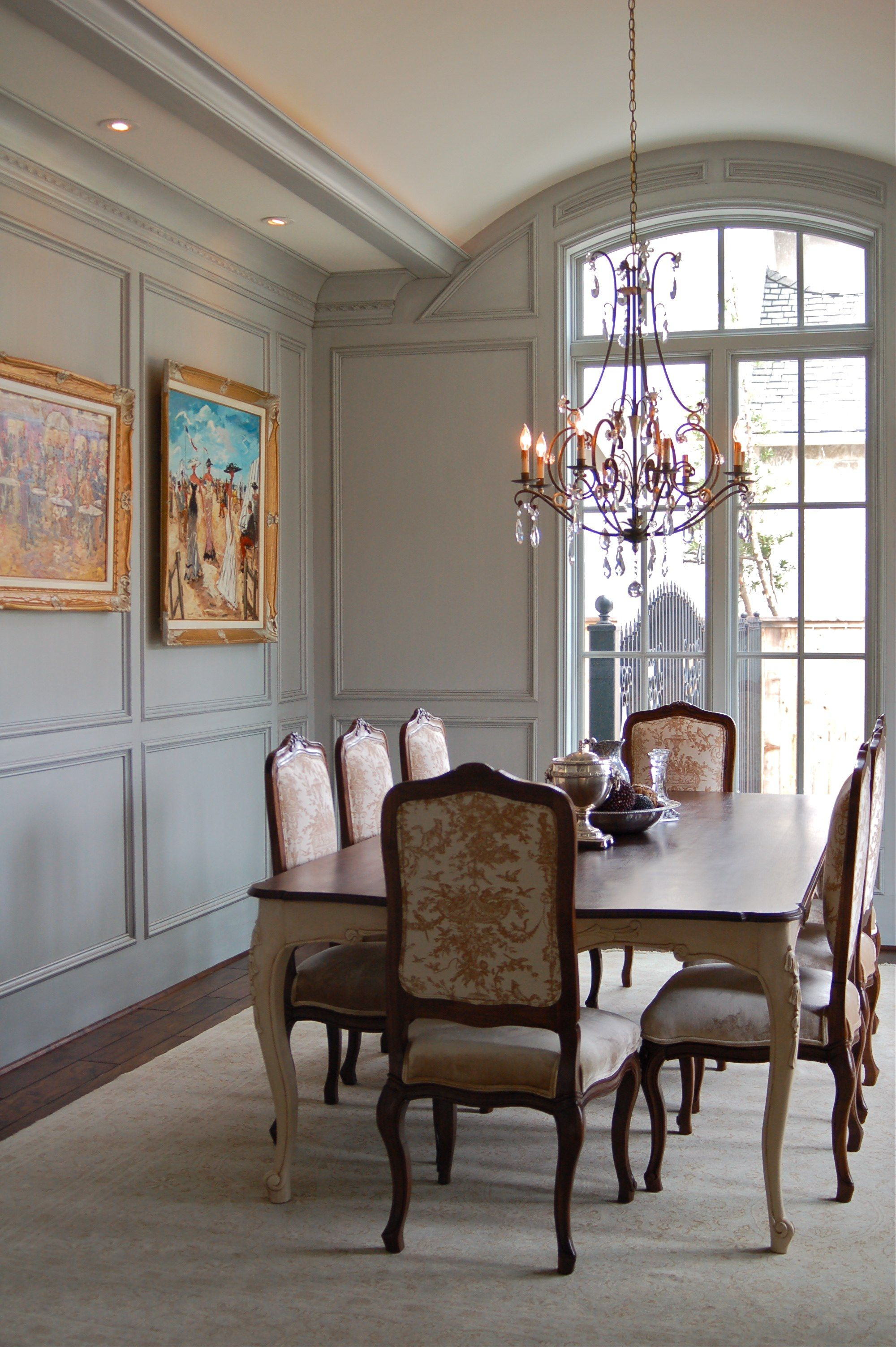 Painted Wood Paneling Amitha Verma Dining Room Wainscoting