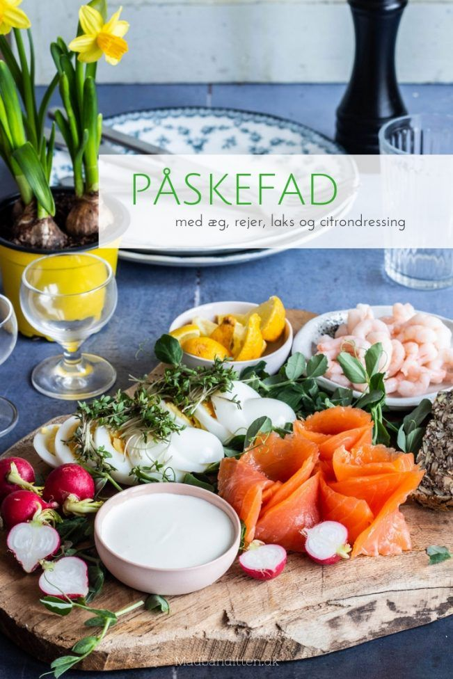 Photo of Easter dish with eggs, shrimp, salmon and lemon dressing – lovely and easy Easter food