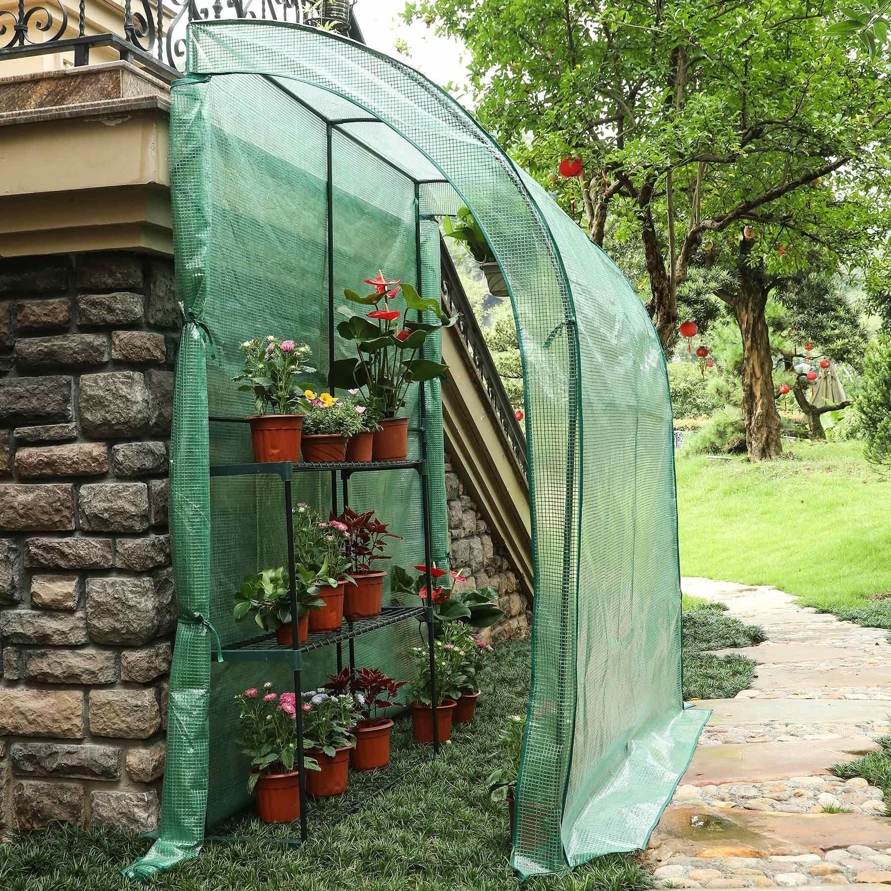 Best Choice Products 78 X 39 X 89 Green 3 Tier Portable Walk In Mini Greenhouse Walmart Com Mini Greenhouse Lean To Greenhouse Greenhouse Backyard walk in greenhouse