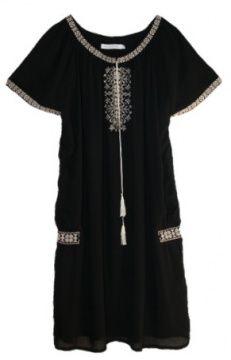 Flannel Clover Raglan Dress