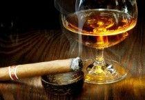 Glass Wine With Cigarette