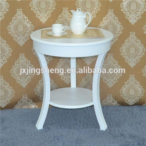 Mesa de centro redonda mesas laterales estilo europeo for Muebles modernos estilo europeo