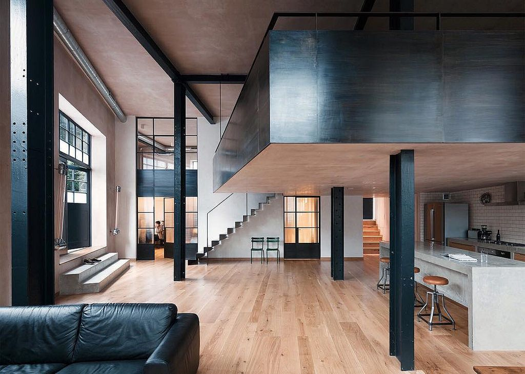 stoere woonkamer inrichting | loft | Pinterest