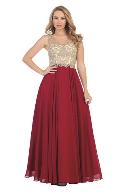 7fad80792f Style Number  LF 7065 Chiffon Skirt with Nude Bead Embellished High Neck  Bodice Available in Black