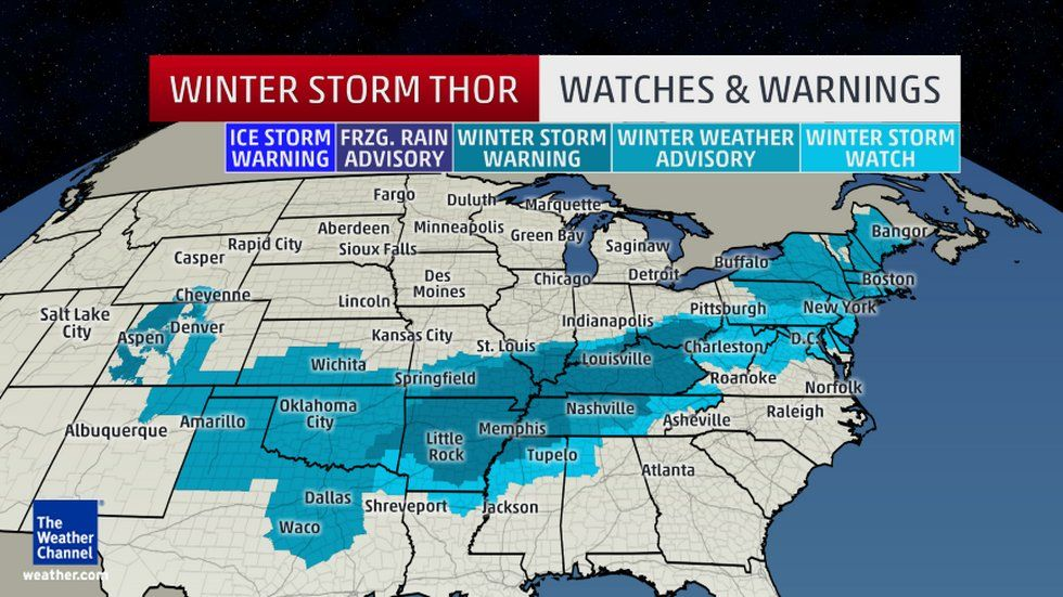 Winter Storm Thor: Significant Snow, Sleet, Ice Maker in the