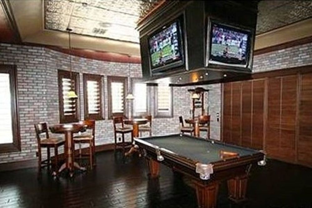 Man Cave Tv : Way scoreboard tv designed man cave awesome