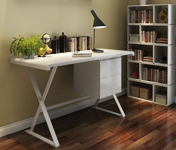 Beau Affordable Small White Modern Office Desks In Chicago
