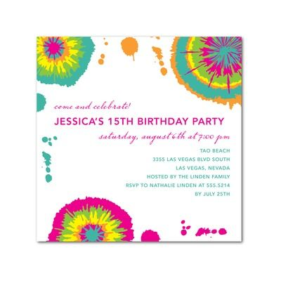Birthday party invitations tie dye hello little one for tiny birthday party invitations tie dye hello little one for tiny prints filmwisefo Image collections
