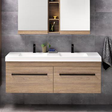 Cara Soltero 1500 Db Wall Dusky Elm Fero Handle Rrp 2910 Contemporary Drawers Vanity Cabinet Styles
