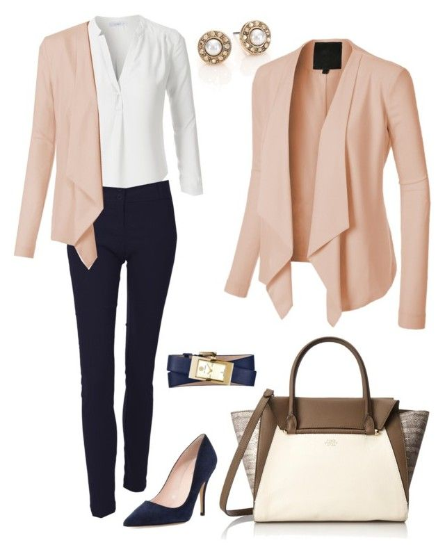 U0026quot;Everyday Work Outfitu0026quot; by le3noclothing liked on Polyvore featuring Oscar de la Renta Vince ...