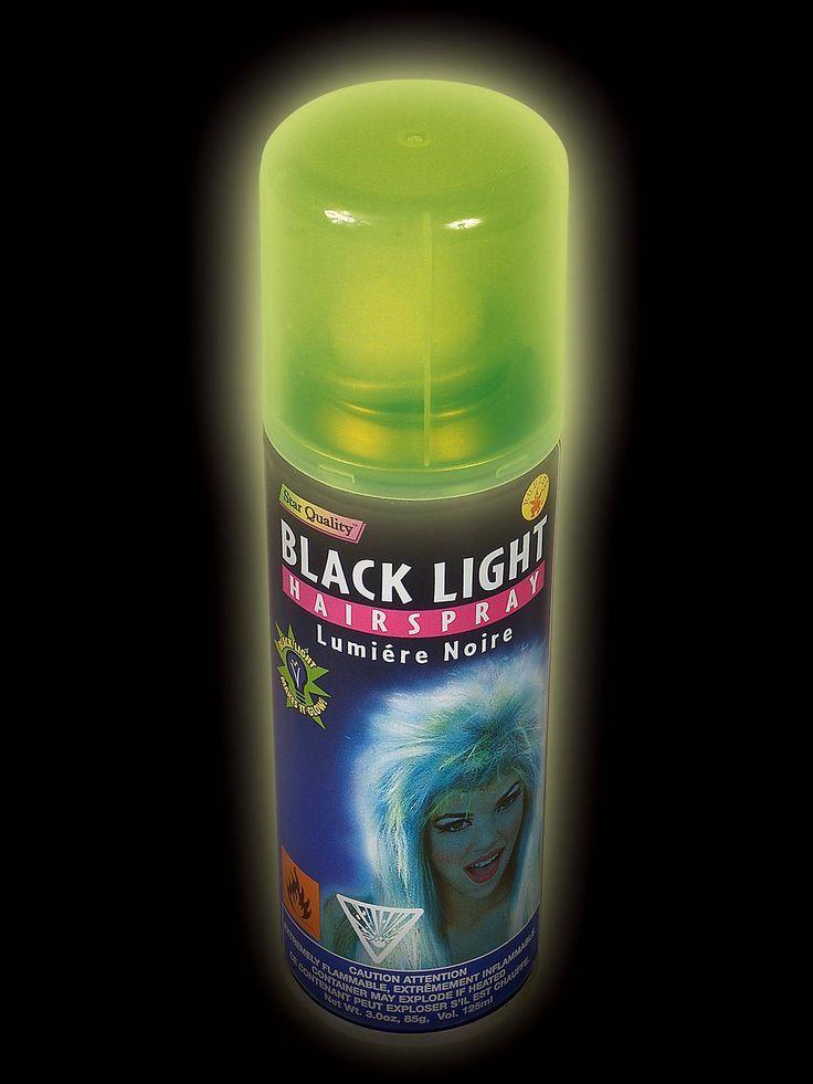Blacklight Fluorescent Hair Spray Blacklight party, Glow