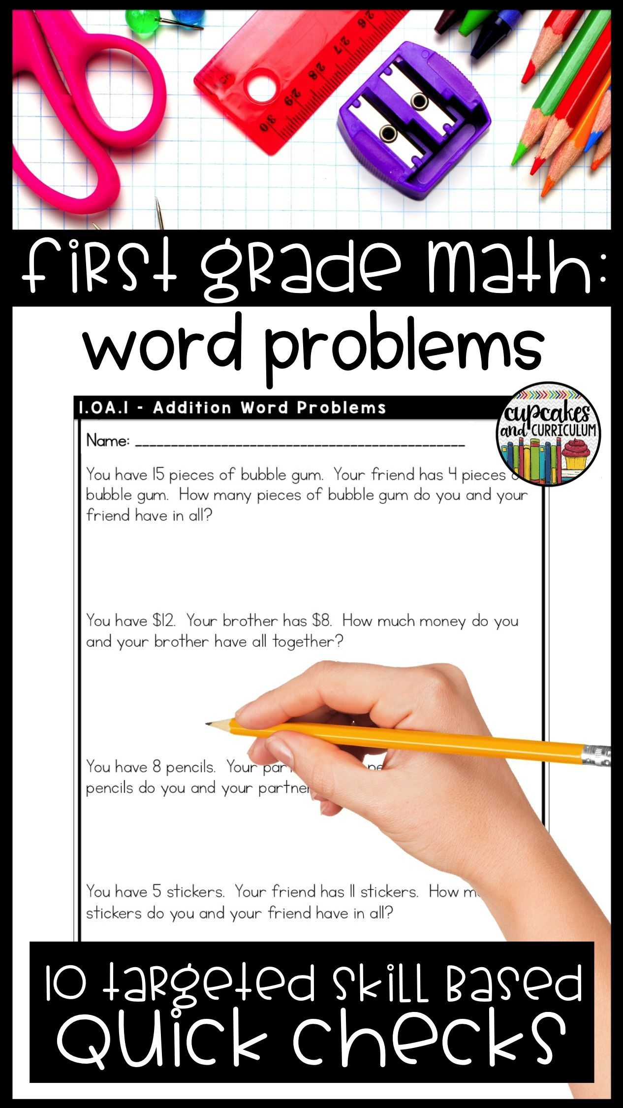1st Grade First Grade Math Skill Checks Targeted Skill Practice For 1st Grade Students First Grade Math Addition And Subtraction Subtraction Word Problems How do you do common core math addition