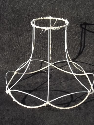 Vintage wire lamp shade frame for bell shape old victorian vintage wire lamp shade frame for bell shape old victorian lampshade keyboard keysfo Choice Image