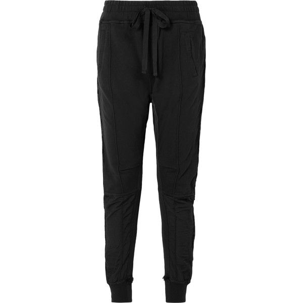 With Paypal Grosgrain-trimmed Cotton-jersey Track Pants - Black Haider Ackermann Pay With Paypal Sale Online Discount Popular Looking For Cheap Price 5Kr2Fqxx8M