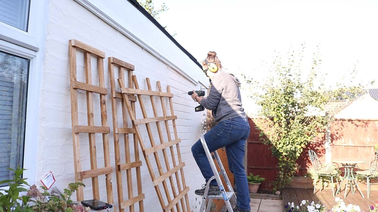 How to Make & Hang Wooden Trellis (With images) Wooden