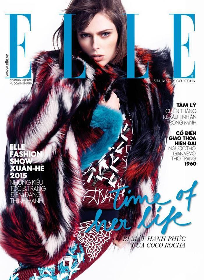 The beautiful Coco Rocha is Elle Vietnam's November #covergirl wearing a #RobertoCavalliFW14 look!