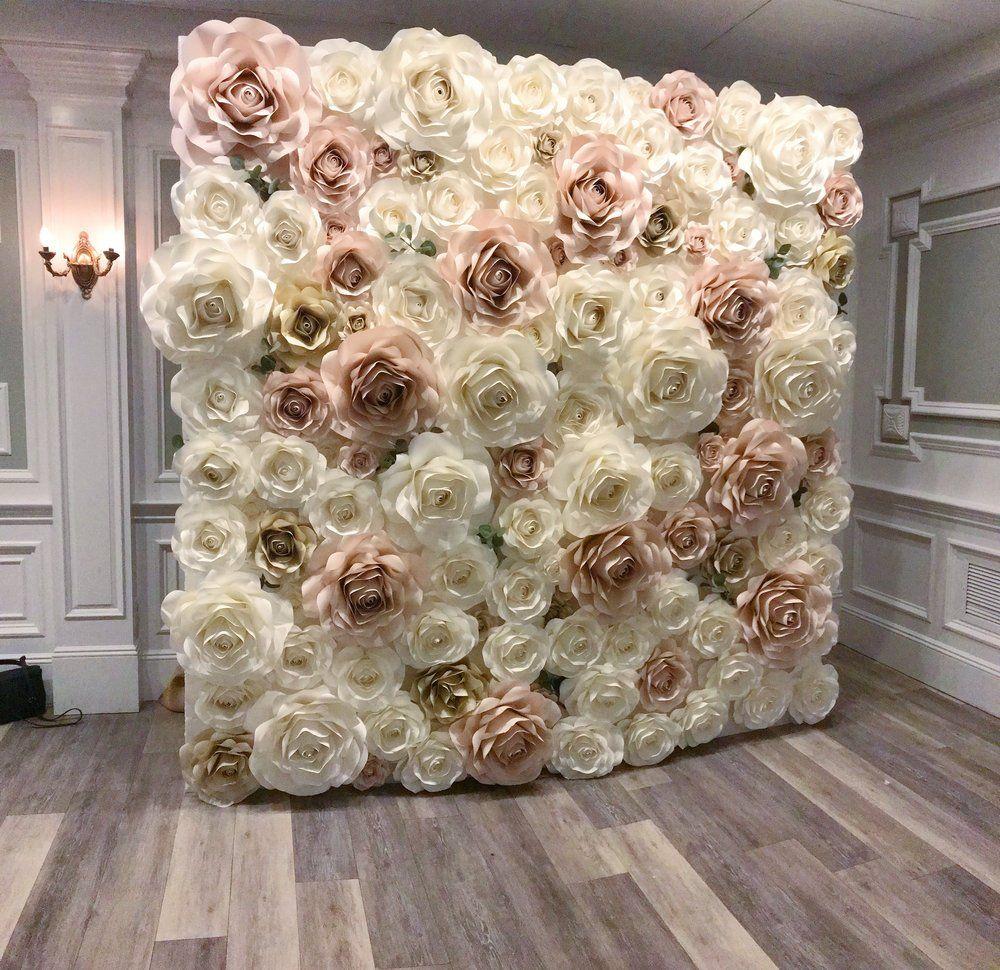 Csyx3276jpg paper flower backdrop wedding flower