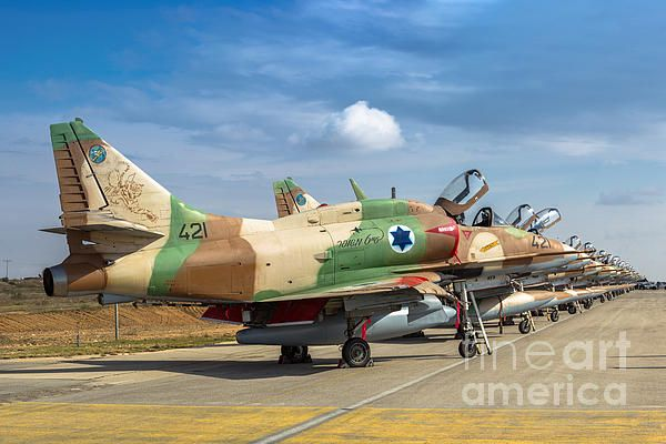 Israel Air Force A 4 Skyhawk By Nir Ben Yosef Air Force Fighter Aircraft Fighter Planes