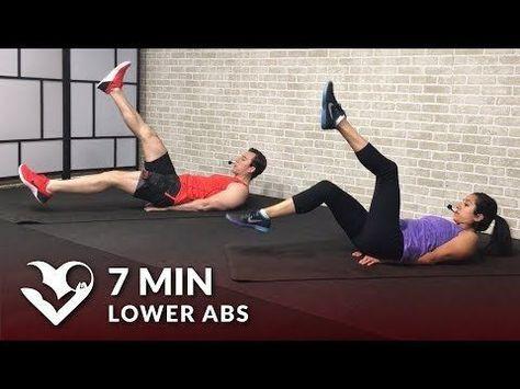7 min lower ab workout for women  men  hasfit  free