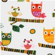 white fabric cute owls Robert Kaufman On a Whim 2