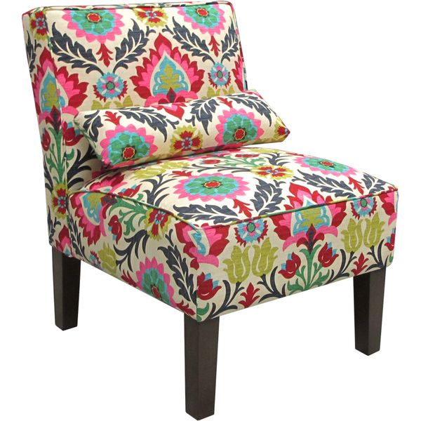 Armless Upholstered Accent Chair