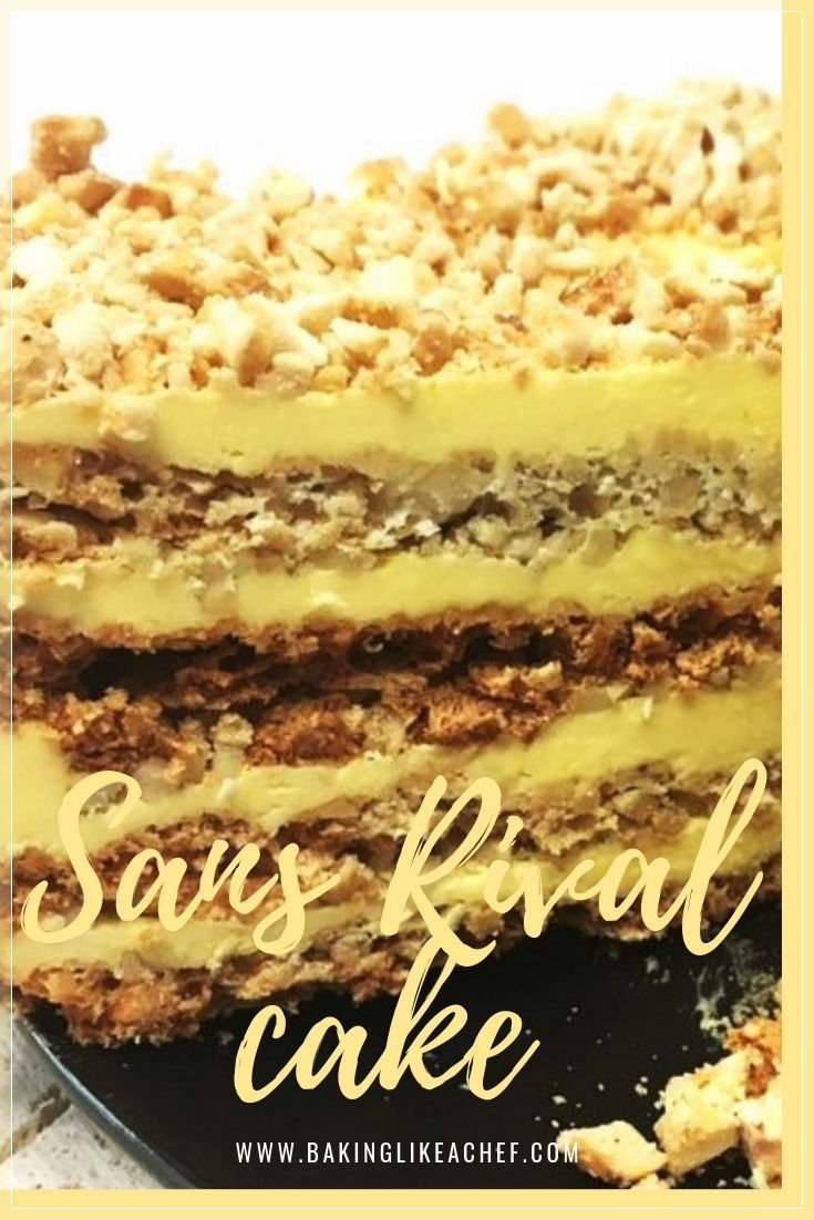 Layer cake sans rival the best cashew cake ever cake